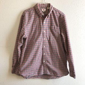 Levi's Red and Blue Button Down Size Large